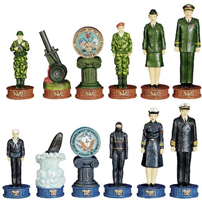Army vs. Navy Chess Set