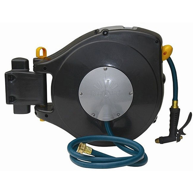 Shop Reel King Self Retracting Hose Reel Free Shipping Today