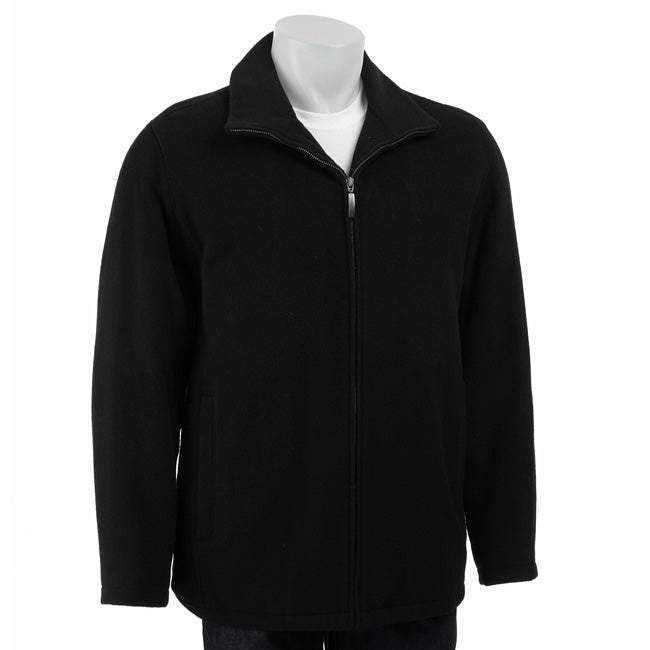 Claiborne Men's Italian Wool-blend Black Coat