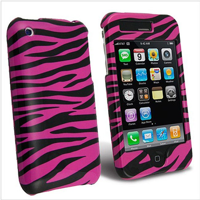 Pink Zebra Snap-on Case for Apple iPhone 3G