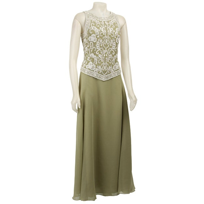 5919d251b02 Shop J Kara Sleeveless Beaded Celery Long Formal Dress - Free Shipping  Today - Overstock - 3889382