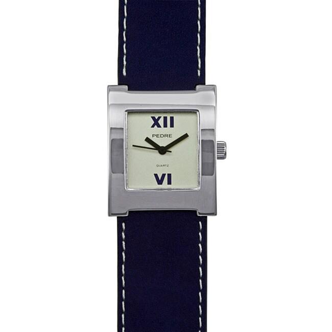 Pedre Women's Silvertone Strap Watch