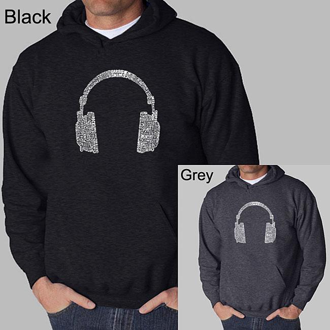 Los Angeles Pop Art 'Headphones' Men's Hooded Sweatshirt