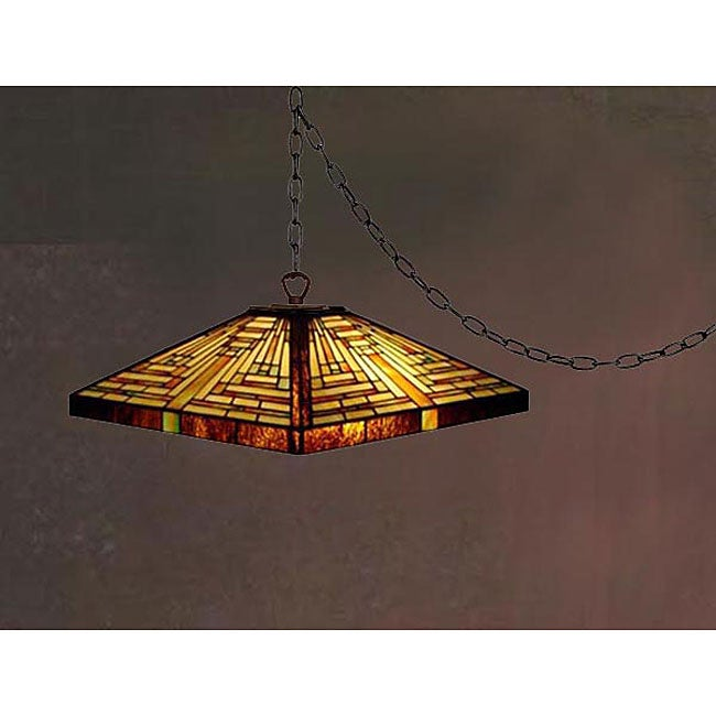 Tiffanystyle Swag Mission Chandelier Free Shipping Today – Mission Style Chandelier Lighting