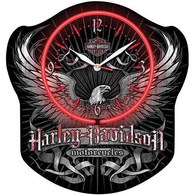 Harley Davidson Greystone Neon Clock Free Shipping Today
