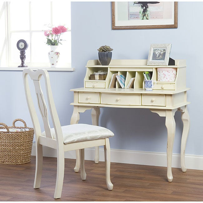 Simple Living Josephine Antique White Writing Desk Free Shipping Today 3893870