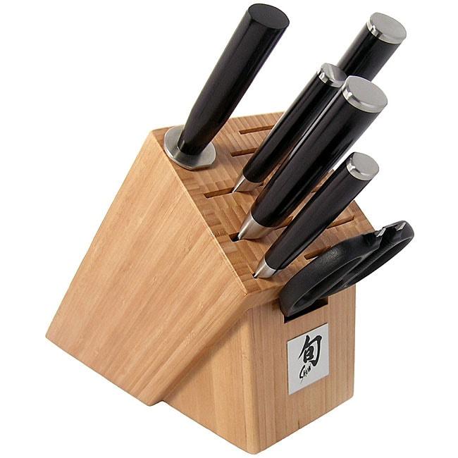 Shun Classic 7-piece Bamboo Block Knife Set