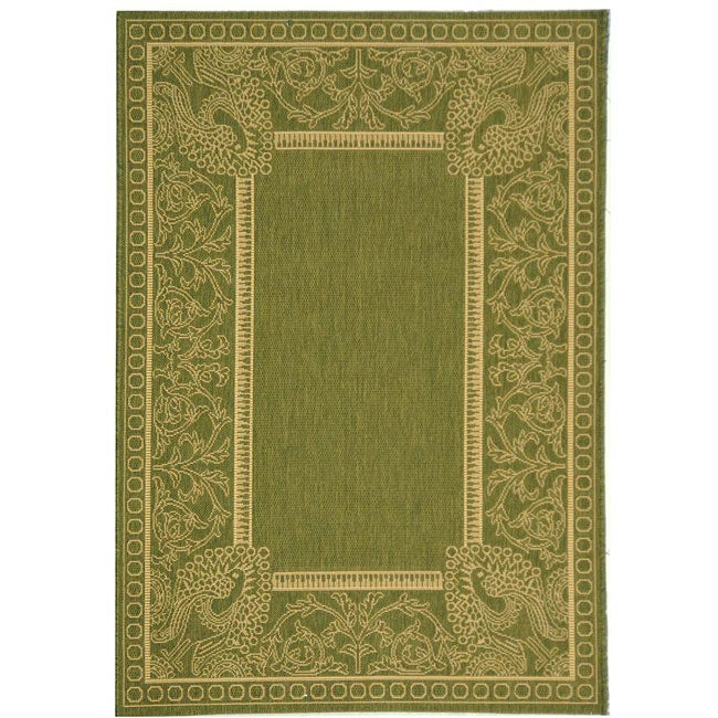 Safavieh Abaco Olive Green/ Natural Indoor/ Outdoor Rug (2'7 x 5')