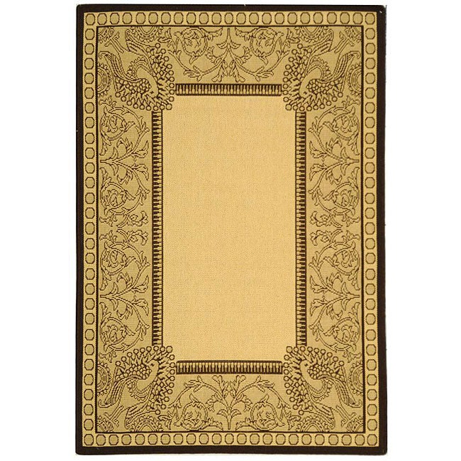 Safavieh Abaco Natural/ Chocolate Indoor/ Outdoor Rug (2'7 x 5')