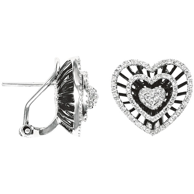 fd3bd5133 Thumbnail 14k Gold 4/5ct TDW Diamond Heart-shaped Earrings (H-I, I1