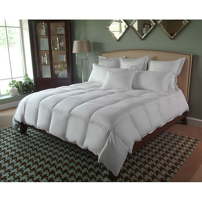 shop oversized king 600 thread count all season down comforter free shipping today overstock. Black Bedroom Furniture Sets. Home Design Ideas