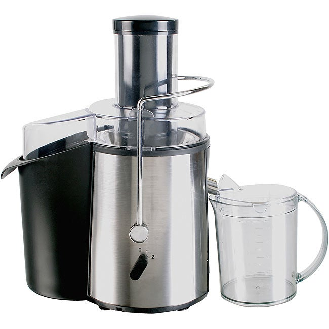 Kalorik Stainless Steel Slow Juicer Reviews : Pro Series 700-watt Juice Extractor with Large Food Chute - Free Shipping Today - Overstock.com ...