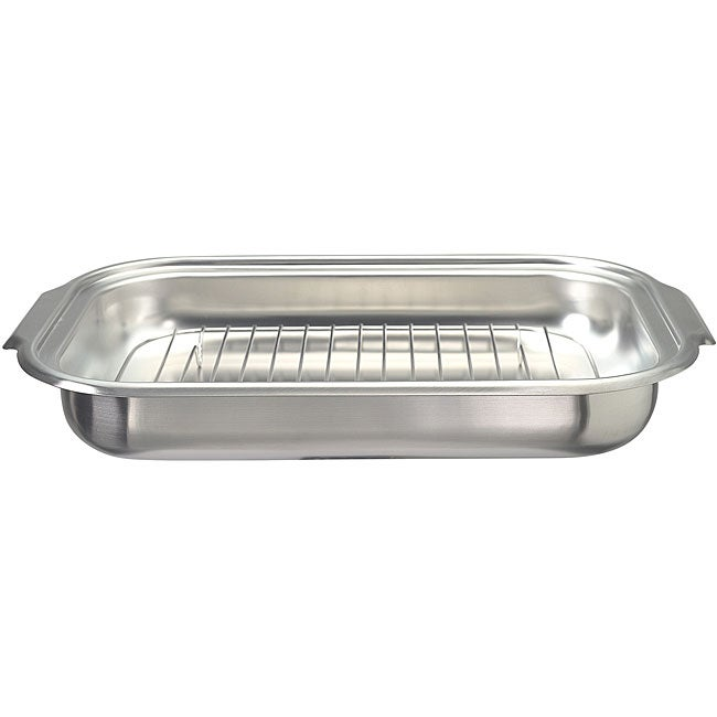 Farberware Ss Roasting Pan W Rack 11x17 Free Shipping On