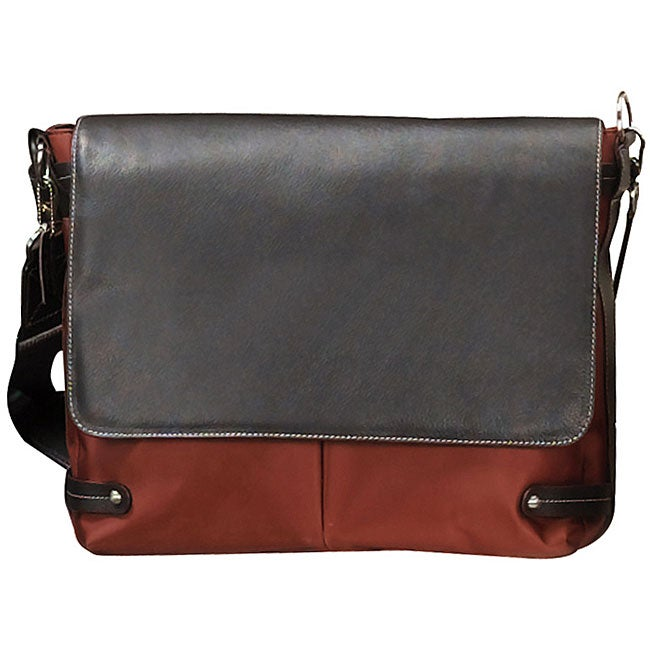 Biltmore Rust Flap Over Briefcase Laptop Case