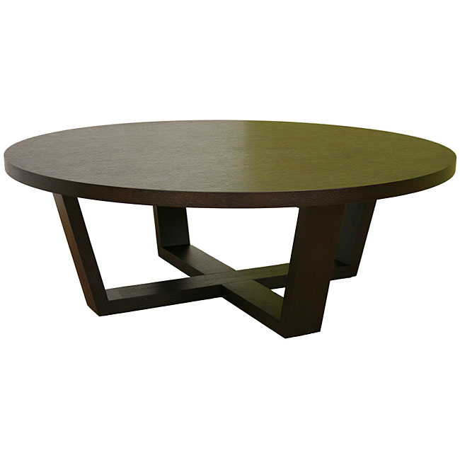 Howard Black-stained Round Coffee Table