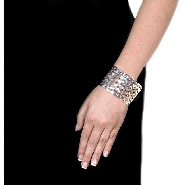 NEXTE Jewelry Silverplated Braided Wire Cuff