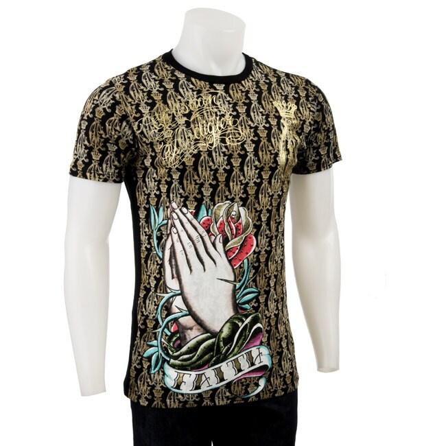 8a92ea10c12 Shop Christian Audigier Men's 'Faith' T-shirt - Free Shipping Today ...