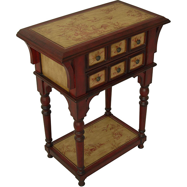 Shop Toile Chest End Table Free Shipping Today