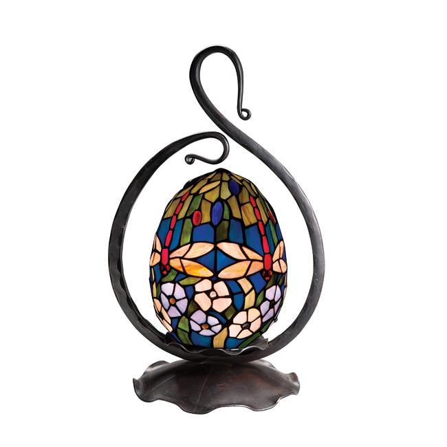 Tiffany-style Bronze Finish Table Lamp