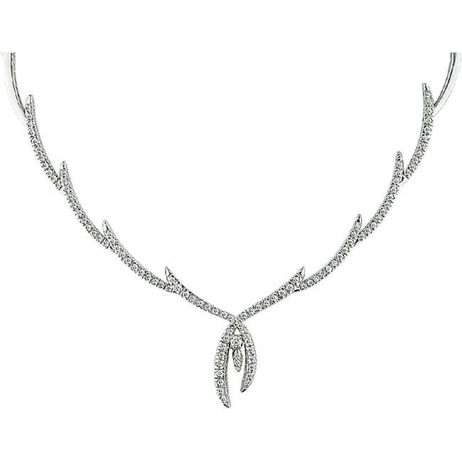 Miadora 18k White Gold 1 1/6ct TDW Diamond Necklace (GH, SI2)