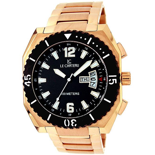 Le Chateau Men's Rose Gold Sports Dinamica Watch