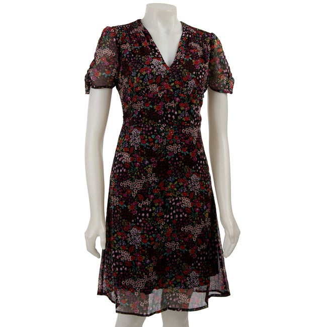 6cfe782ee93 Shop Essentials by Milano Women s Floral Print Dress - Free Shipping On  Orders Over  45 - Overstock - 3916220