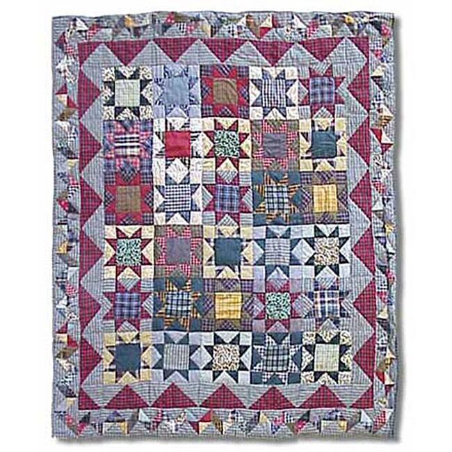 Denim Burst Throw Blanket (50 in. x 60 in.)