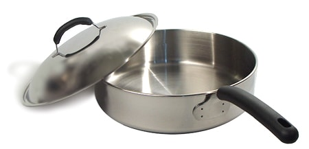 Bella cuisine 12 inch covered saute pan free shipping on for Art and cuisine cookware reviews