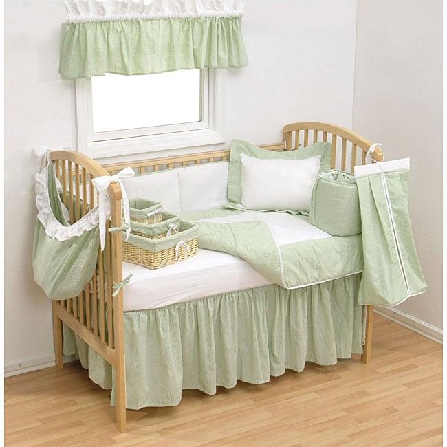Trend Lab Sage Gingham 4 Piece Crib Bedding Set Free