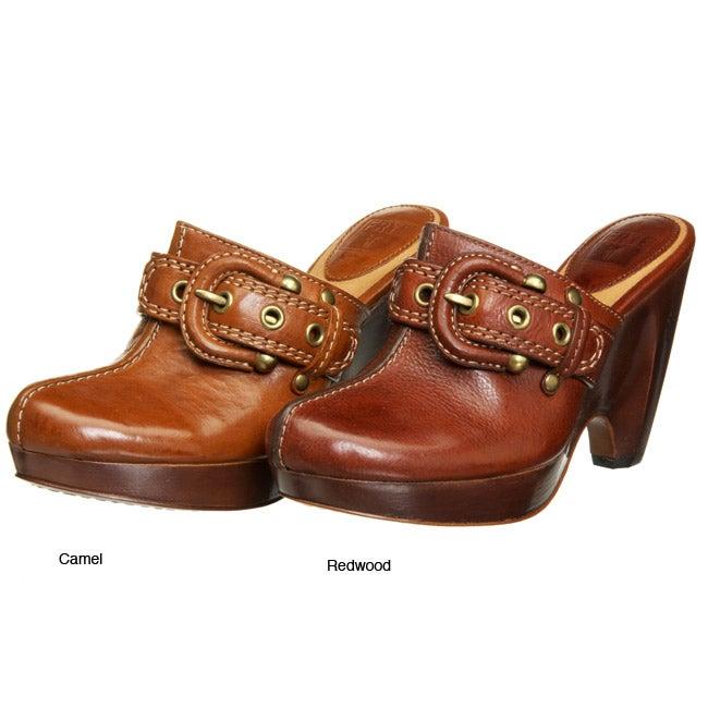 Frye Women's 'Donna' High Heel Buckle Clogs