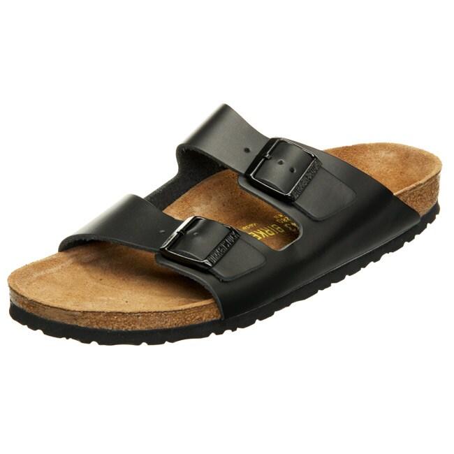 Shop Birkenstock Men S Arizona Leather Slip On Sandals