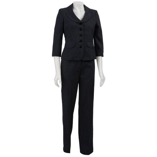 Nine West Women's 2-piece Denim Pant Suit