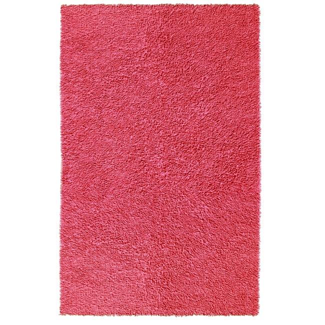 Chenille Pink Shag Rug (5' x 8')