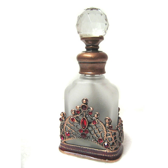 Kabella Victorian Design Frosted Red Perfume Bottle