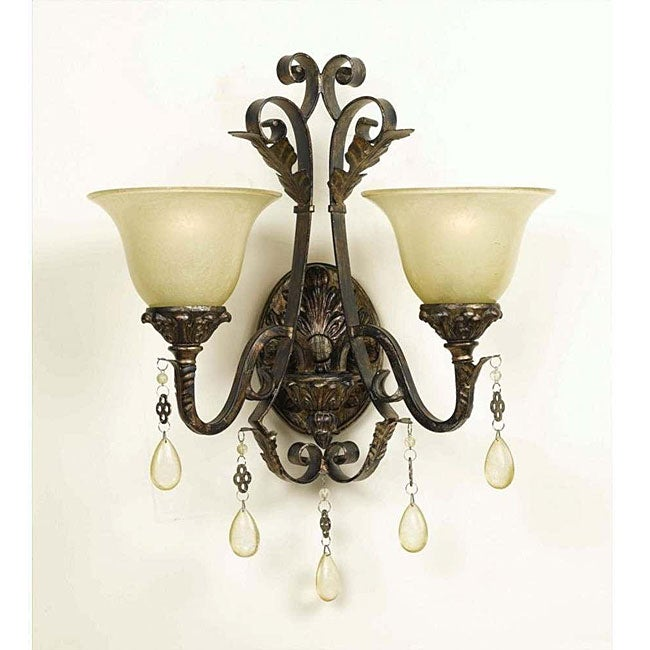 Burnished Gold 2-light Wall Sconce