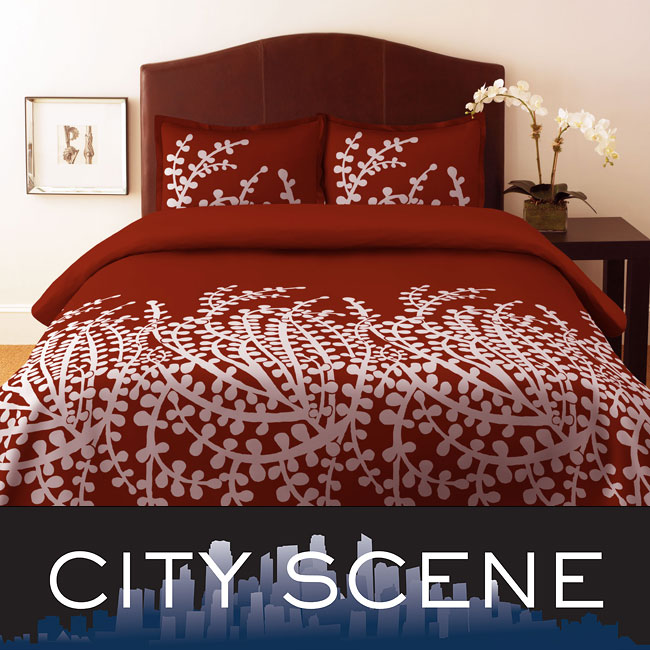City Scene Branches Spice Duvet Cover Set