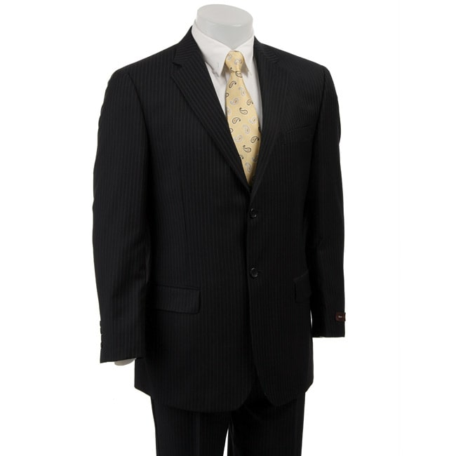 bcbg attitude s navy pinstripe wool 2 button suit