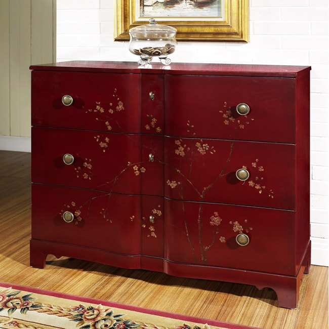 Hand-painted Cherry Accent Chest