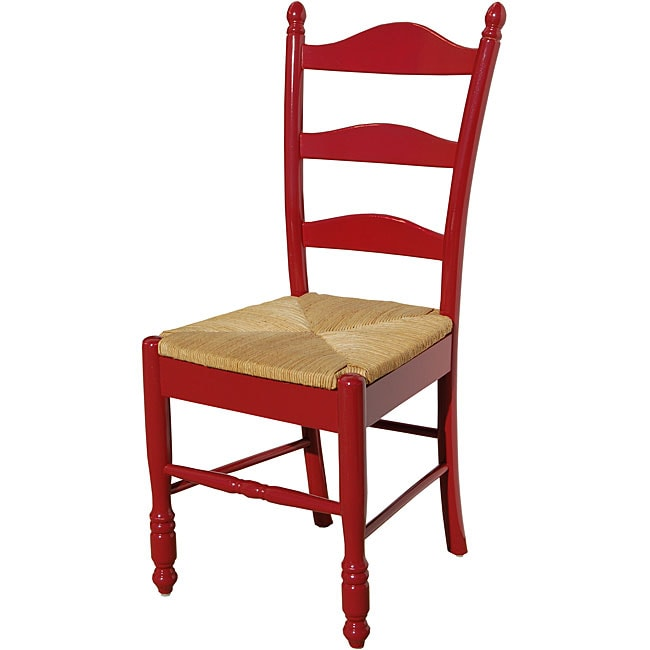 Shop Simple Living Red Ladder Back Chair Free Shipping