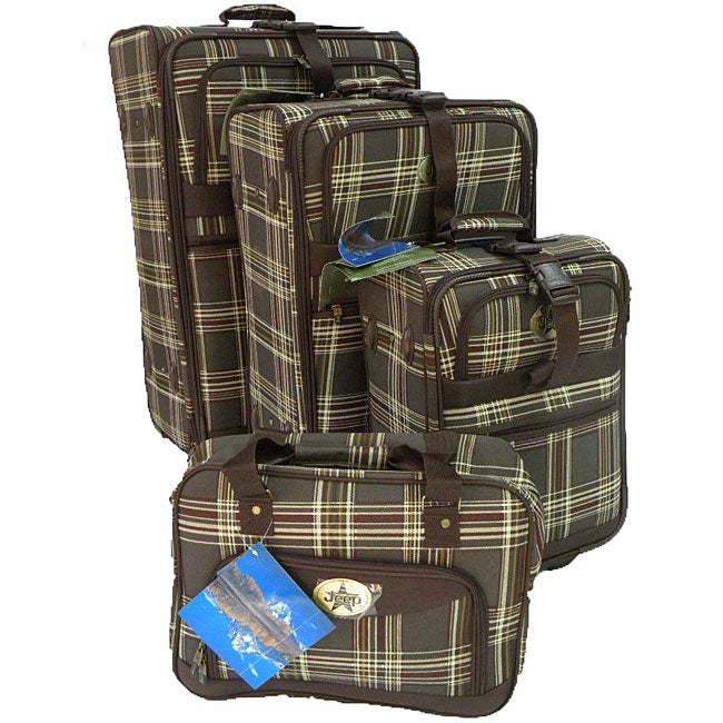 4e94472a59 Shop Jeep 4-piece Rolling Luggage Set - Free Shipping Today - - 3928417