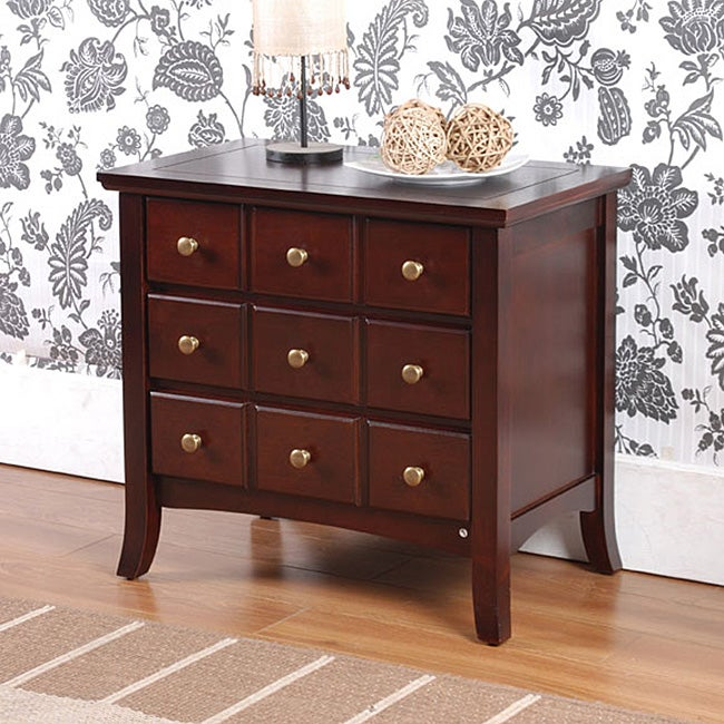Lance Apothecary 3-drawer End Table / Nightstand