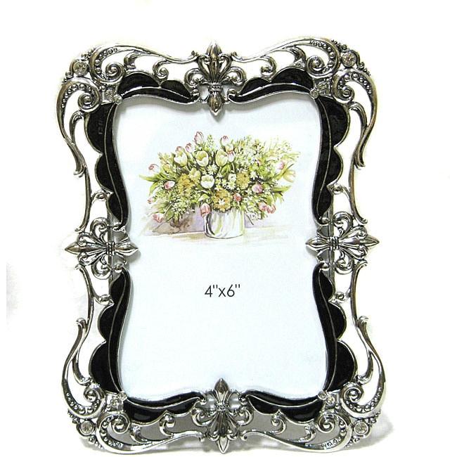 Shop Kabella Black And Silver Fleur De Lis Photo Frame Free