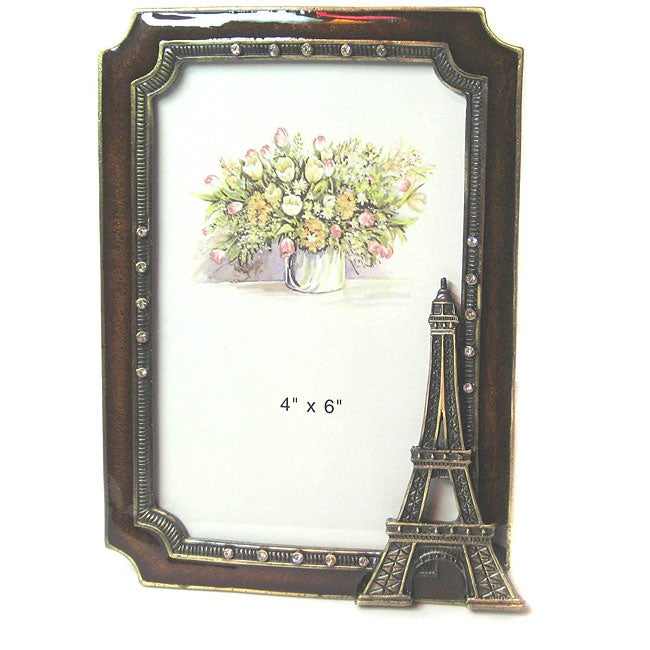 amber eiffel tower 4x6 photo frame
