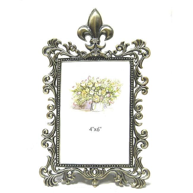 Shop Kabella Fleur De Lis 4x6 Photo Frame Free Shipping On Orders