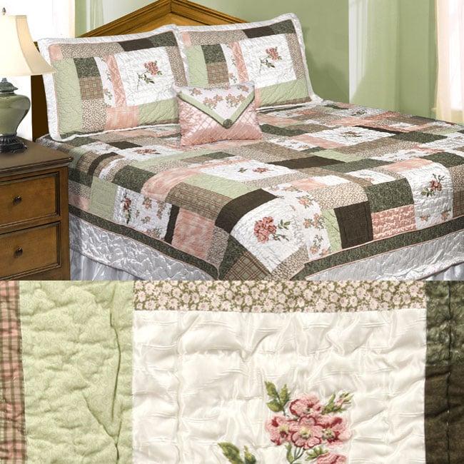 Cherish 5-piece Patchwork Quilt Set