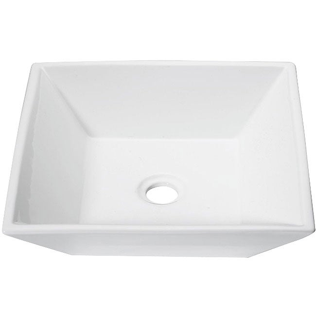 DeNovo Modern Square Porcelain Vessel Sink