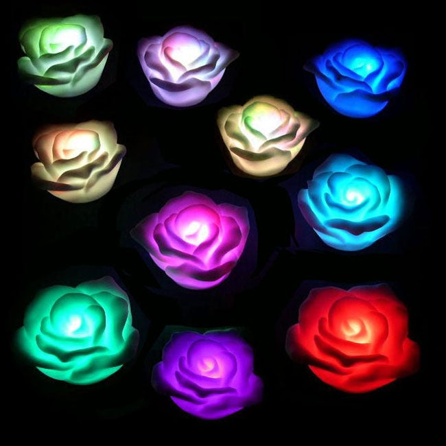 Floating Flower Rose LED Lights (Set of 20)