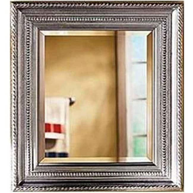 Decorative 27x33-inch Brushed Nickel Frame Mirror