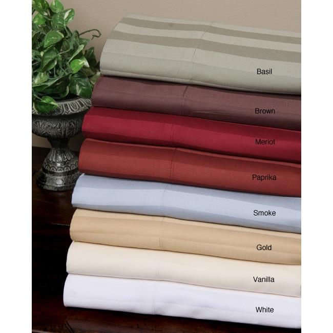 310 Thread Count Sateen Stripe Sheet Set