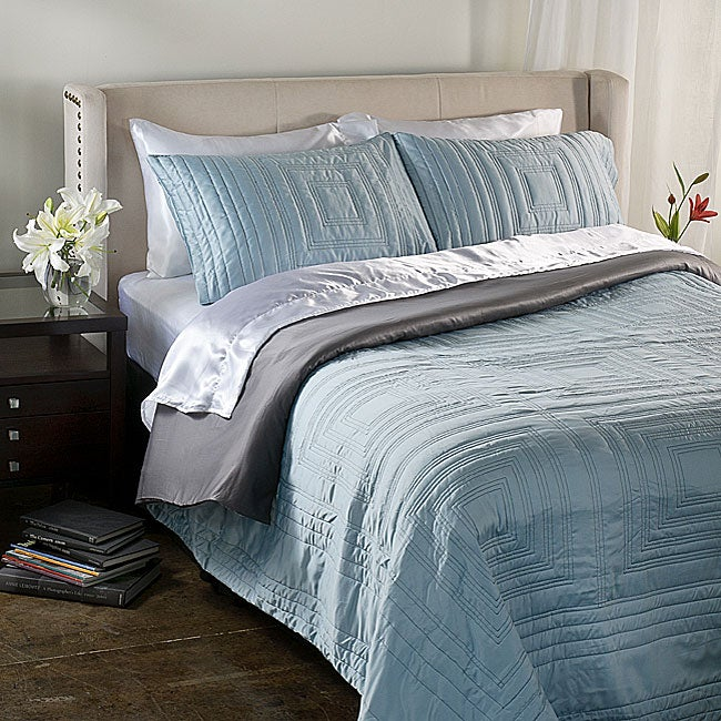 Anthology Manhattan Ice Blue Duvet Cover Set Free